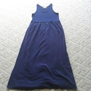 Dark Blue Loft Casual Maxi Dress Large